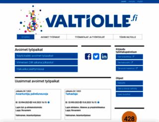 valtiolle.fi screenshot