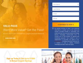 valu-pass.com screenshot