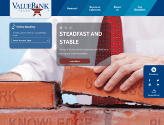 valuebanktexas.com screenshot