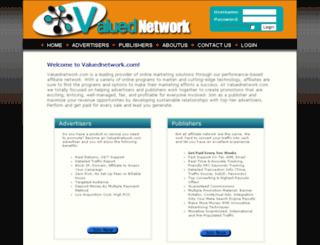 valuednetwork.com screenshot