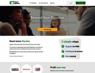 valuedopinions.co.uk screenshot