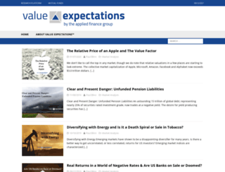 valueexpectations.com screenshot