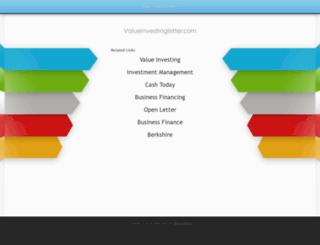 valueinvestingletter.com screenshot