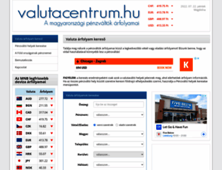 valutacentrum.hu screenshot