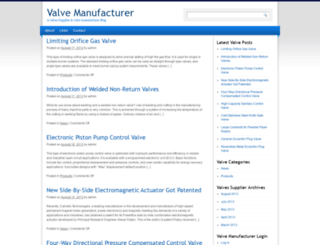 valvemanufacturer.net screenshot