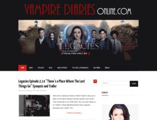 vampirediariesonline.com screenshot