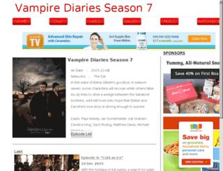 vampirediariesseason7.com screenshot