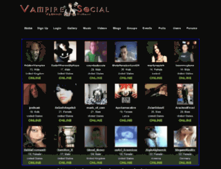 vampiresocial.co.uk screenshot