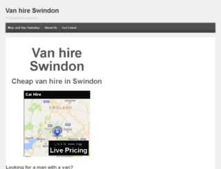 van-hire-swindon.com screenshot