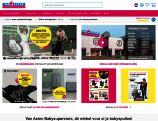 vanastenbabysuperstore.nl screenshot