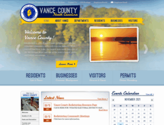 vancecounty.org screenshot