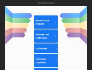 vanconinc.com screenshot
