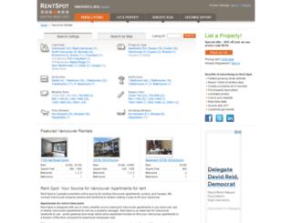 vancouver.rentspot.com screenshot