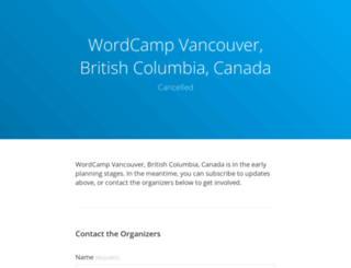 vancouver.wordcamp.org screenshot