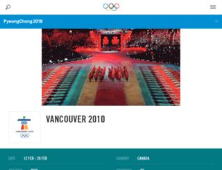 vancouver2010.com screenshot