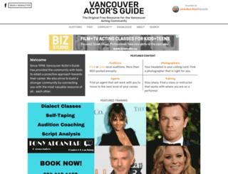 vancouveractorsguide.com screenshot