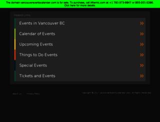 vancouvereventscalendar.com screenshot