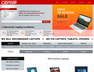 vancouverlaptop.com screenshot