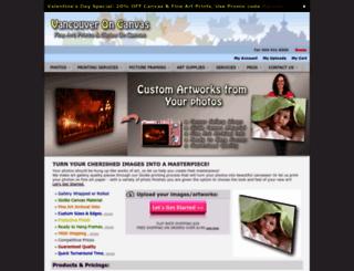 vancouveroncanvas.com screenshot