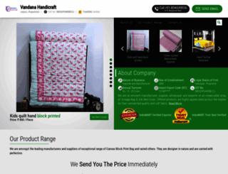 vandanahandicrafts.com screenshot