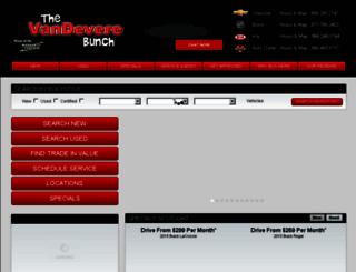 vandevere.com screenshot
