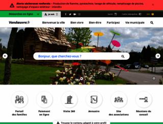 vandoeuvre.fr screenshot