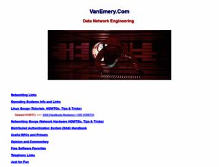 vanemery.com screenshot
