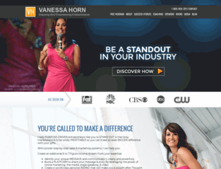 vanessahorn.net screenshot