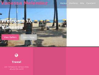 vanessamelendez.com screenshot