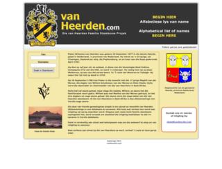 vanheerden.com screenshot