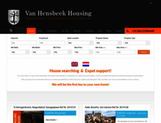 vanhensbeekhousing.com screenshot