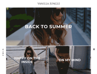 vanilla-jungle.com screenshot