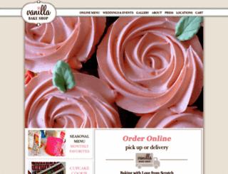 vanillabakeshop.com screenshot