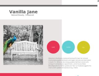 vanillajane.com screenshot