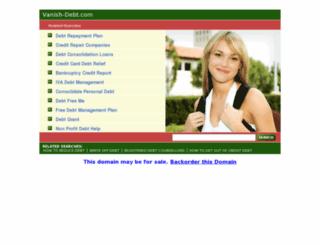 vanish-debt.com screenshot