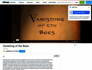 vanishingbees.com screenshot