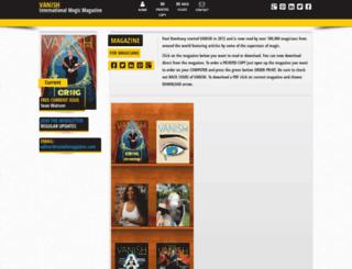 vanishmagazine.com screenshot