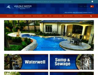vanislewater.com screenshot