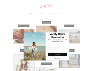 vanity-claire.com screenshot