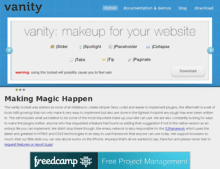 vanity.enavu.com screenshot