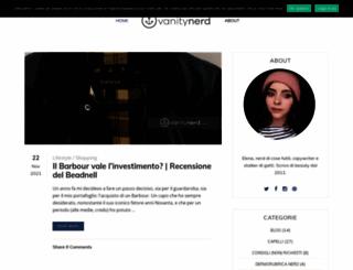 vanitynerd.com screenshot