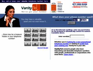 vanitytel.com screenshot