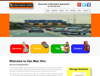 vanmanhire.co.uk screenshot