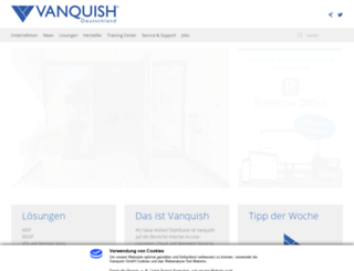 vanquish.de screenshot