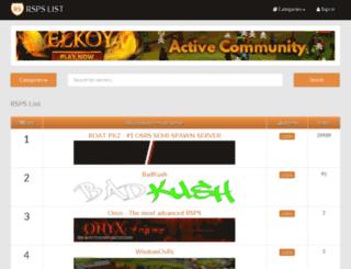 vanquishrsps.com screenshot