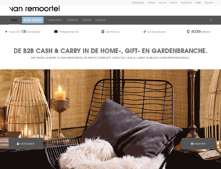 vanremoortel.co.uk screenshot