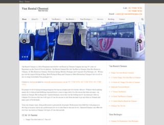 vanrentalchennai.com screenshot