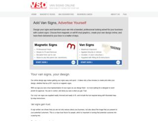 vansignsonline.co.uk screenshot