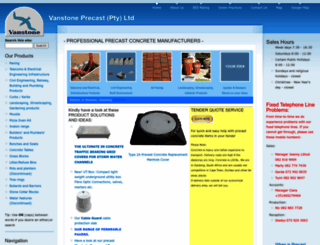 vanstone.co.za screenshot