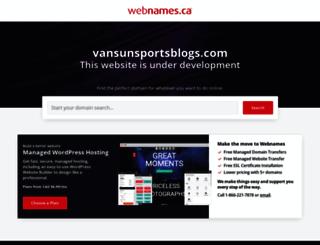 vansunsportsblogs.com screenshot